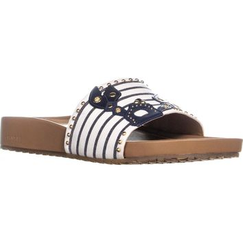 Cole Haan Pinch Lobster Sandals, Navy Ink/Ivory, 10 US