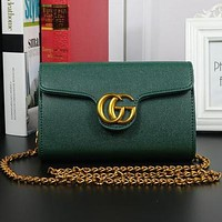 Gucci feminine trendy handbag shoulder bag F-MYJSY-BB green