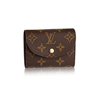 Authentic Louis Vuittom Monogram Canvas Helene Wallet Article: M60253