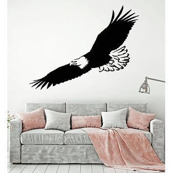 Vinyl Wall Decal Flying Eagle Bird Tribal American Symbol Feathers Stickers Mural (g1244)