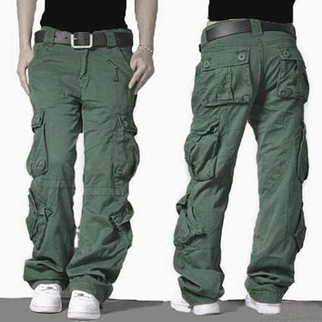New Camouflage Tactical Cargo Pants Joggers Military Army Combat Casual Hip Hop