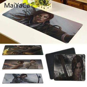 MaiYaCa Your Own Mats The Tomb Raider Large Mouse pad PC Computer mat Gamer Gaming Keyboard Mat Computer Tablet Mouse Pad