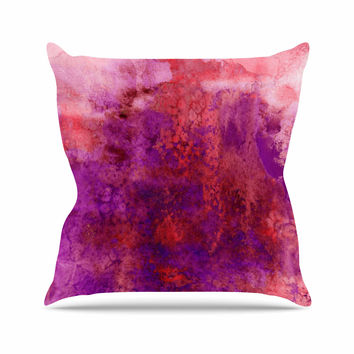"Ebi Emporium ""Epoch 3"" Red Purple Throw Pillow"