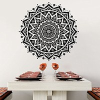 Wall Decal Mandala Vinyl Sticker Decals Lotus Flower Yoga Namaste Indian Ornament Moroccan Patern Om Home Decor Art Bedroom Design Interior C511