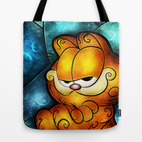 Never trust a smiling cat. Tote Bag by Mandie Manzano
