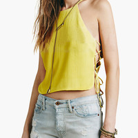Halter Side Lace Cropped Top