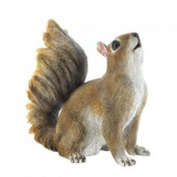 Bushy Tail Squirrel Figurine (pack of 1 EA)