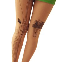 Harajuku Pistol Gun Tights Pantyhose SD00001