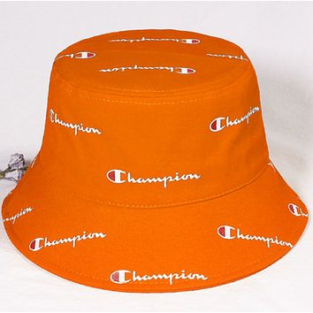 Champion Fashion New More Letter Print Sun Protection Women Men Cap Hat Orange