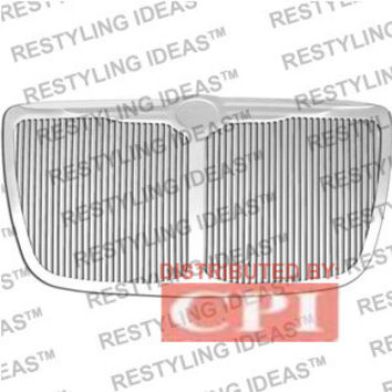 Chrysler 2004-2008 Chrysler 300/300C Vertical Billet W/Center Bar [72152] Chrome Plated Stainless Steel Billet Grille Insert