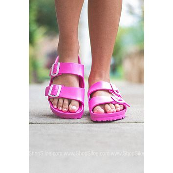 Arizona EVA Birkenstocks | Neon Pink | Narrow