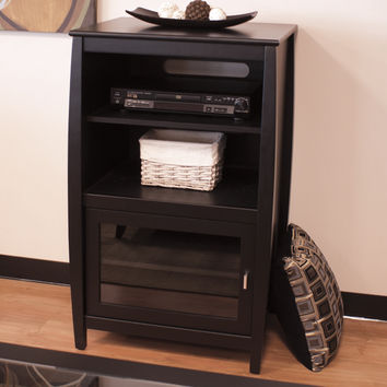 "40"" Tall Audio Rack Black Oak"