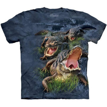 GATOR BOG The Mountain Alligator Crocodile Swamp Reptile Adult T-Shirt S-3XL NEW