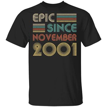 Epic Since November 2001 Vintage 19th Birthday Gifts