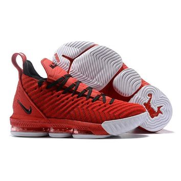 Nike Lebron 16 Red White Black Women Sneakers