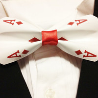 Aces Playing Card Bowtie Clip-On