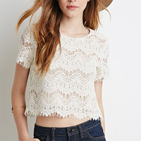 Boxy Eyelash Lace Top