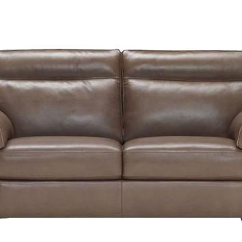 Cervo Power Reclining Leather Studio Sofa by Natuzzi Editions