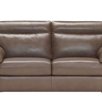 Cervo Full Leather Sleeper Sofa by Natuzzi Editions with Greenplus Foam Mattress