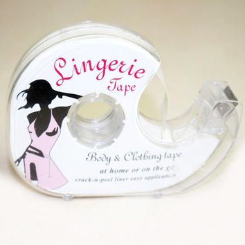Safe Double Sided Adhesive Lingerie Tape Body Clothing Clear Bra Strip