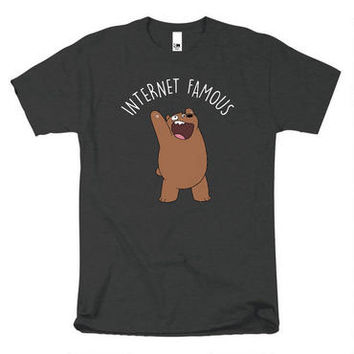 We Bare Bears Internet Famous Adult Charcoal Heather T-Shirt | CartoonNetworkShop.com