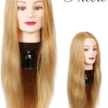 "HairArt 24"" Cosmetology Mannequin Head Human Hair, Blonde Hair"