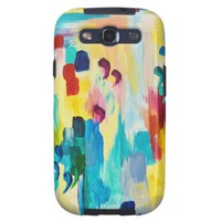 DONT QUOTE ME Whimsical Rainbow Ikat Chevron Abstr Galaxy S3 Cases from Zazzle.com