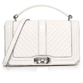 Chevron Quilted Cross Body Bag
