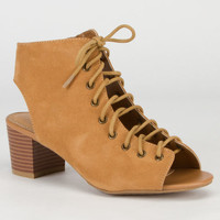 Bamboo Leroy Womens Wedges Sand  In Sizes