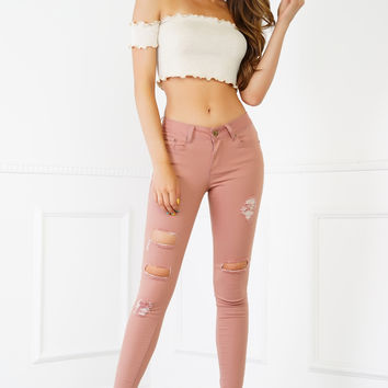 In The Cut Jeans - Pink