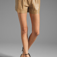 Clover Canyon Leather Shorts in Tan from REVOLVEclothing.com