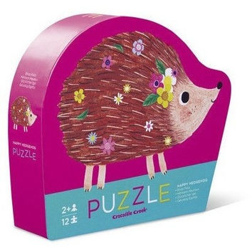 Crocodile Creek Happy Hedgehog Mini Puzzle- 12 Pc