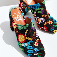 Crosswalk Embroidered Mule   Urban Outfitters