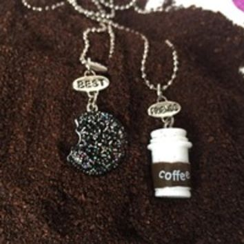 COFFEE + COOKIE BFF NECKLACE SET
