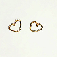 16G 18G 20G Gold Rose Gold Sterling Silver Heart Piercing Ring Piercing Hoop Earring Daith Rook Tragus Orbital Snug Conch Helix Body Jewelry