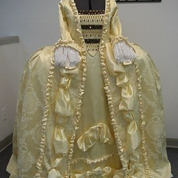 Marie Antoinette Duchess Elizabethan 18th Century Court Gown Dress Costume NEW