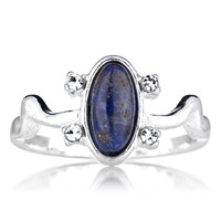 The Vampire Diaries Inspired - Elena's Blue Lapis Daylight Ring