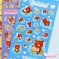 Rilakkuma Puffy Sticker Set - 4 sheets