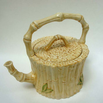 Vintage San Marco Bamboo Tea Pot - Made in Italy