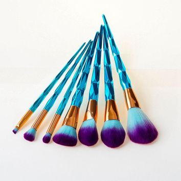 1Set Professional Diamond Unicorn Makeup Brushes Facial Foundation Eyeshadow Contour Lip Powder Cosmetic Makeup Brushes Kit