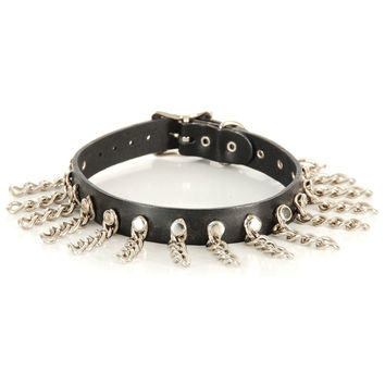 Leather Choker Men's Choker Black