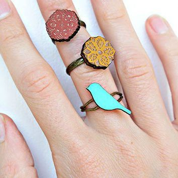happy day rings, set of 3