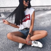 One-nice™ Levi's Summer Women Classic Leisure T-Shirt