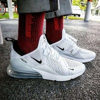 Nike Air Max 270 Women Men Running Shoes Leisure Sneaker White