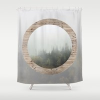 At the still point of the turning world. Shower Curtain by Anipani