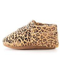 BIRDROCK BABY LEOPARD GENUINE LEATHER BABY MOCCASINS