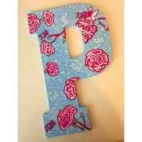 Lilly Pulitzer Pi Beta Phi Sorority Wooden Initial
