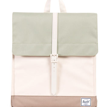 Herschel Supply Co. - City Mid-Volume Backpack (Rubber-Natural/Tea/Brindle)