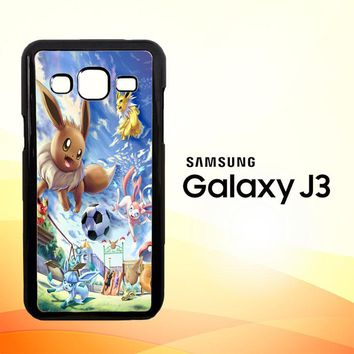 Eevee and Umbreon and Espeon X0915  Samsung Galaxy J3 Edition 2015 SM-J300 Case