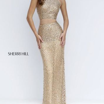 Sherri Hill Beaded Two Piece Dress 50087